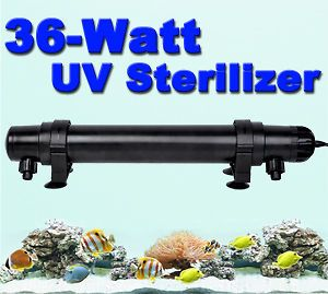36W UV Sterilizer Light Clarifier Aquarium Pond Koi Tank Lamp