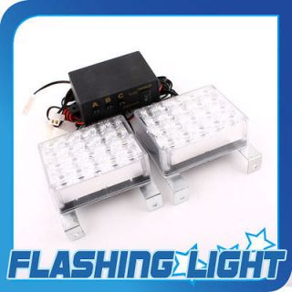 NEW 2x20 LED WHITE CAR STROBE RECOVERY BEACON FLASHING LIGHTS