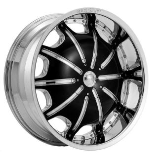 20 INCH RIMS AND TIRES WHEELS ROCKSTARR 557 CHROME SCION XD 22 24 26