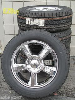FACTORY STYLE NEW CHROME WHEELS GOODYEAR TIRES 5308 (Fits 2007 Tahoe