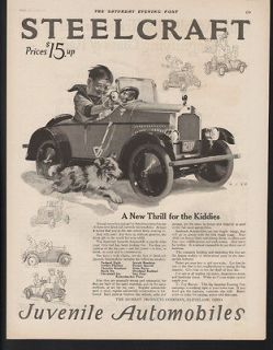 Newly listed 1924 STEELCRAFT JUVENILE AUTO PEDAL CAR TOY METAL
