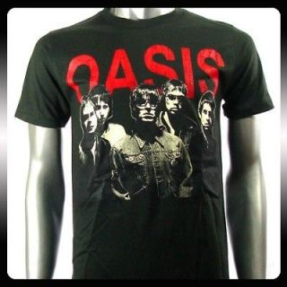 oasis alternative rock band music punk t shirt sz l