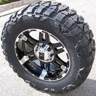 18 BLACK SPY WHEELS & NITTO MUD GRAPPLER DODGE RAM SILVERADO SIERRA