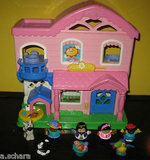 FISHER PRICE LITTLE PEOPLE BUSY DAY DOLLHOUSE COTTAGE 2006 SWEET