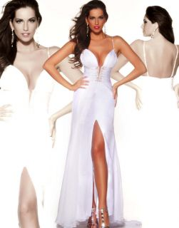 mac duggal 81079p white winning pageant gown dress 12