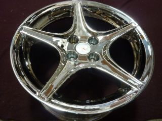 17x9 ford mustang 1987 1993 chrome saleen style wheel rim