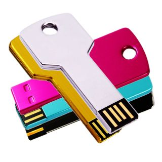 Metal Key Flash Memory Drive Thumb Design 1GB 2GB 4GB 8GB 16GB