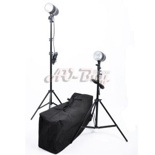 400w Photo Studio Mini Flash Kit 200w strobe+ Reflective Umbrella + 2m