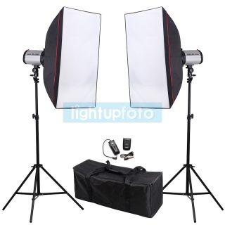 500W Photo Studio Mini Flash Monolight Kit Carry Bag