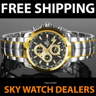EF 524SG 1AV EF524SG Casio Edifice Two Tone Chronograph Mens Watch