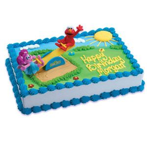 Elmo Abby Cadabby Sesame Street Cake Topper Decoration