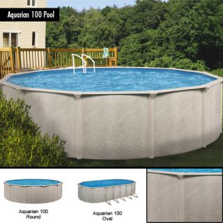 24x48 Round Aquarian 100 Above Ground Swimming Pool Kit 20 Year
