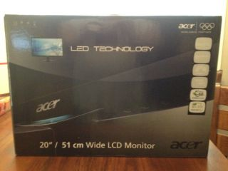 Acer s S202HLBD 20 LED LCD Monitor Black