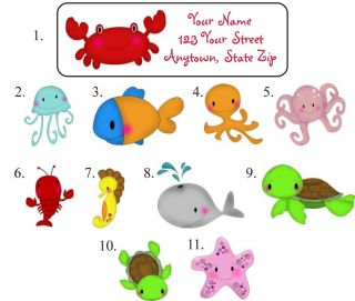 Personalized Sea Life Address Labels Starfish Crab More Buy Any 5 Get