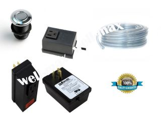 Air Switch Kit Complete with Button / Garbage Disposal Electric Air