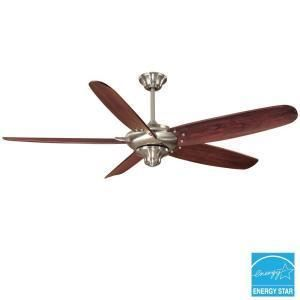 Hampton Bay Altura 68 in Indoor Brushed Nickel Ceiling Fan 128925
