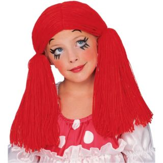 Rag Doll Girl Wig Raggedy Ann Anne Child Costume Wig 50854