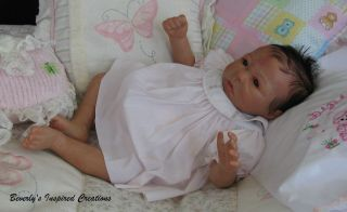 GORGEOUS REBORN NEWBORN BABY GIRL LILLY BY ANGELA HARRIS LE #21/350