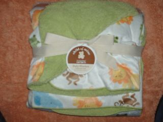 Adorable New Baby Blanket Jungle Animal Print
