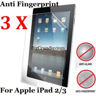 Lot Of 3 Anti Glare / Fingerprint Screen Protector For Apple iPad 3 2