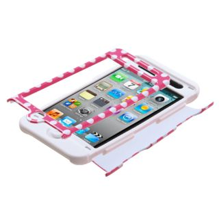 White Tuff Hybrid Phone Case Apple iPod Touch 4th Generation