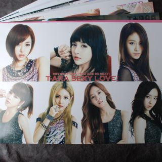 POP T ARA 12 Posters 12 PCS Collection Bromide TARA BRAND NEW