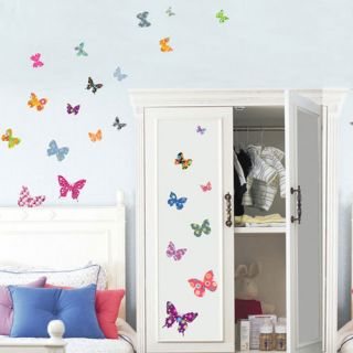 Wall Paper Decals Vinyl Art DIY Stickers Butterfly 180