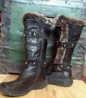 WOMENS SZ 8 APRES by LAMO WINTER FASHION BOOTS FAUX FUR LINED MAN MADE