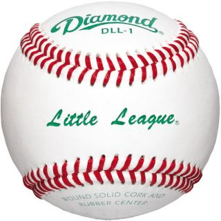Diamond DLL 1 Little League Leather Baseballs 1 Dozen