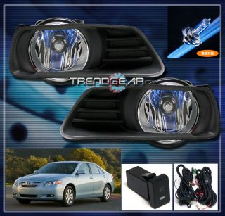 2009 TOYOTA CAMRY JDM BUMPER DRIVING FOG LIGHT LAMP+SWITCH+HARNESS KIT