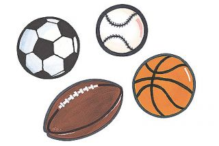 Football Baseball Soccer Basketball Sports Balls Wall Murals Decals