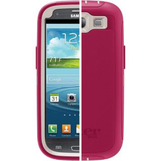 NEW OEM Samsung Galaxy S3 Otterbox Defender Case Pink/White Avon