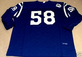 INDIANAPOLIS BALTIMORE COLTS THROWBACK NFL FOOTBALL MENS BLUE JERSEY