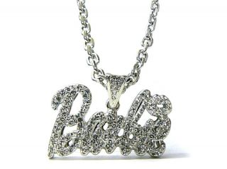 Silver Nicki Minaj Barbie Pendant Charm Necklace S2A