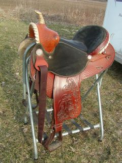 Barrel Racing Racer Saddle Bear Trap 15 inch FQHB Western Trail Swept