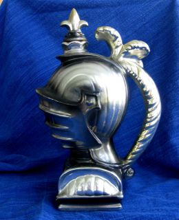 Gladator Knight Helmet Musical Decanter Large Art Deco Barware