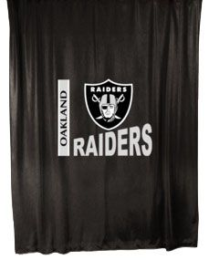 raiders nfl football bathroom shower curtain the oakland raiders nfl