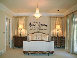Every Love Story Is Beautiful Home Bedroom Vinyl Wall Decal Lettering