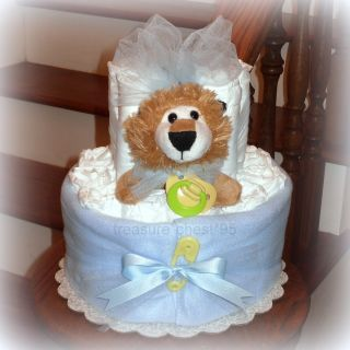 Lion Diaper Cake Baby Shower Centerpiece Decorations Table Gift Animal