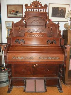 ESTEY Reed Pump Organ Battleboro Vermont 19th Century Pre Civil War