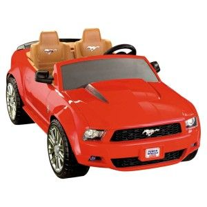 fisher price battery powered red ford mustang riding toy for kids 2