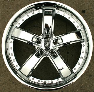 Von Max VM07 20 Chrome Rims Wheels Honda Accord 03 Up 20 x 8 5 5H 38
