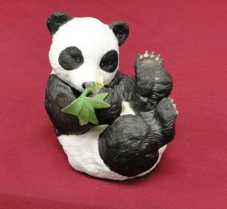 Hi There Panda Bear Hold Bamboo Branch Figurine Figure Fig By Eva