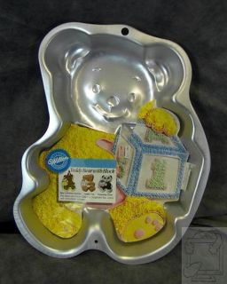Wilton Shaped Cake Pan 2105 8257 Teddy Bear w Block New Insert 2005