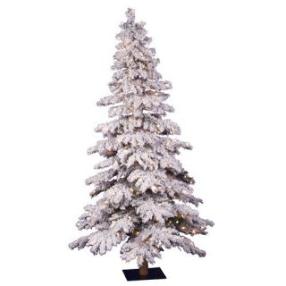 Vickerman Flocked Spruce Alpine 72 Artificial Christmas Tree with