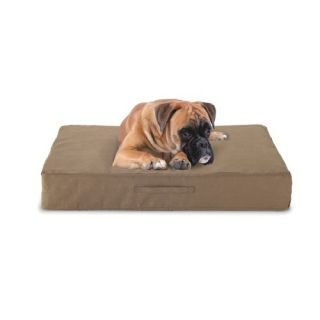Buddy Beds Luxury Memory Foam Dog Bed with Taupe Microfiber Cover