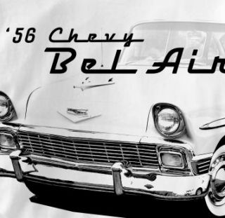 Chevy Bel Air 1956 Classic Chevrolet Car Aut T Shirt XL