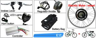 Electric Bicycle Kit Front 48V 1000W E Bike Retrofit Motor Kits 26