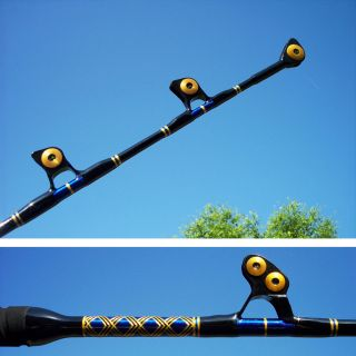 50 80 LB BIG GAME FISHING ROD LARGE WINDON STYLE GUIDES 5 FT 6 INCHES