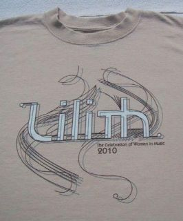 Lilith Fair 2010 Festival Large Concert T Shirt New
